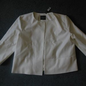 NEW The Limited 12 White Open Front Jacket Blazer